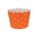 Orange Polka Dot Paper Treat Cups