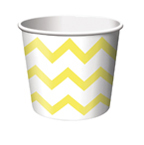 Yellow Chevron Stripe Paper Treat Cups