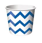 Blue & White Chevron Stripe Paper Treat Cups