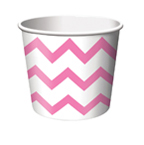 Candy Pink and White Chevron Treat Cups