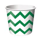 Green Chevron Paper Treat Cups
