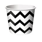 Black & White Chevron Stripe Paper Treat Cups