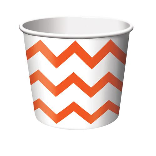 Orange Chevron Paper Treat Cups
