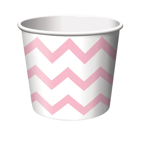 Classic Pink and White Chevron Treat Cups