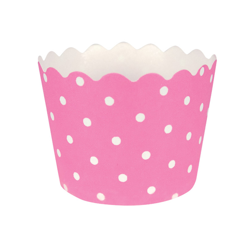 Candy Pink Polka Dot Baking Cups