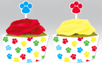 Puppy Party Cupcake Wrappers and Candles
