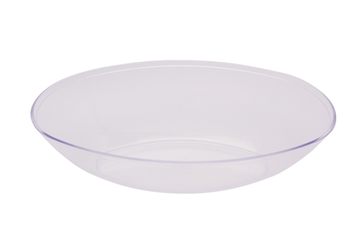 Large Oval Plastic Bowls – Clear