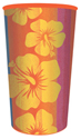 Tropical Stripes Plastic Cups - 22 oz.