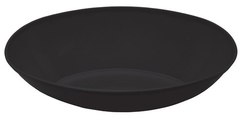 Large Oval Plastic Bowls – Black