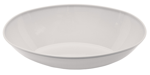 Large Oval Plastic Bowls – White