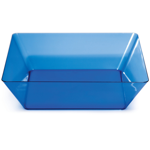 Blue Square Plastic Bowls - 11 Inches