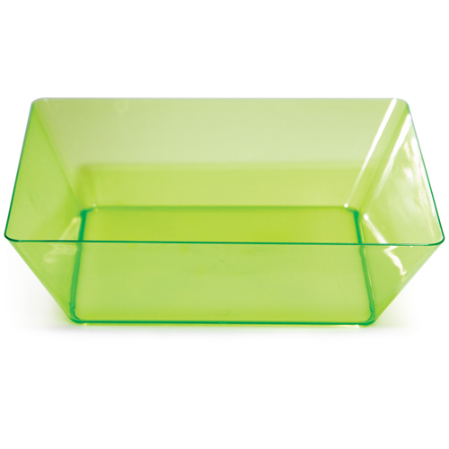 Green Square Plastic Bowls - 11 Inches