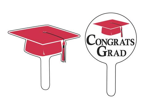 Graduation Cupcake Picks - Red