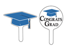 Graduation Cupcake Picks - Blue