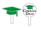 Graduation Cupcake Picks - Green
