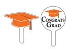 Graduation Cupcake Picks - Orange