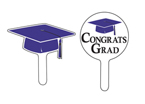 Graduation Cupcake Picks - Purple