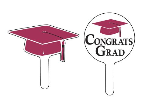 Graduation Cupcake Picks - Burgundy