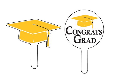 Graduation Cupcake Picks - Yellow