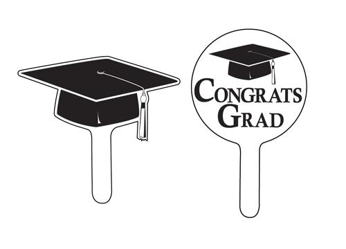Graduation Cupcake Picks - Black