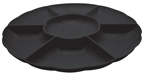 Black Round Plastic Compartment Trays – 16 Inches