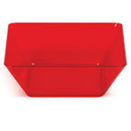 "Red Square Plastic Bowls - 5"""