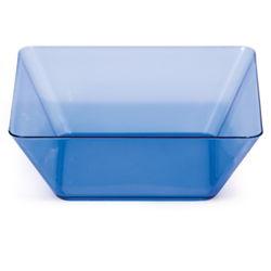 Blue Square Plastic Bowls - 5 Inch