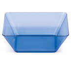 Blue Square Plastic Bowls - 5 Inches
