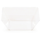 Clear Square Plastic Bowls - 5 Inch