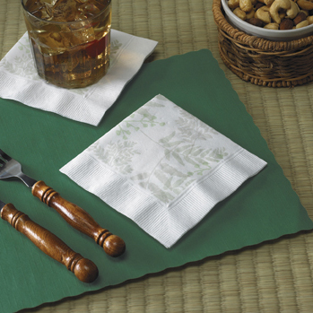 Recycled Paper Beverage Napkins - Nature's Greens