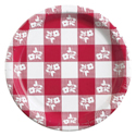 Red Gingham Paper Luncheon Plates