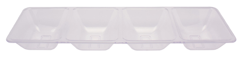 Rectangular Compartment Plastic Trays – Clear
