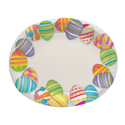 Easter Egg Oval Paper Plates