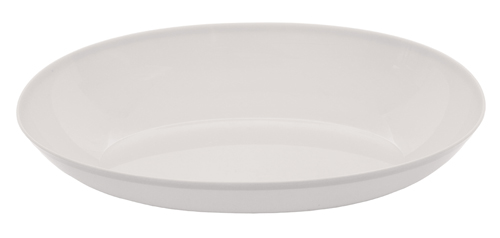 Small Oval Plastic Bowls – White