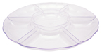 Clear Round Plastic Compartment Trays – 16 Inches