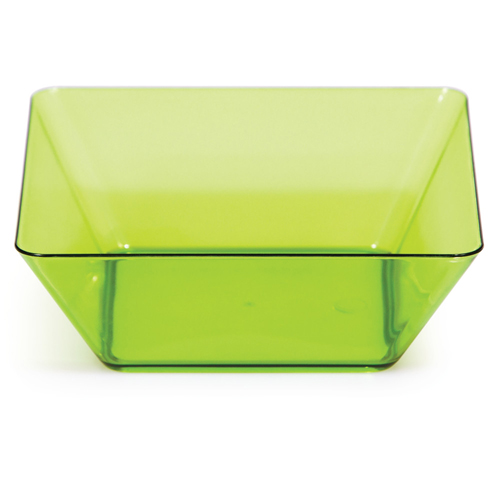 Green Square Plastic Bowls - 5 Inches
