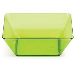 Green Square Plastic Bowls - 5 Inch