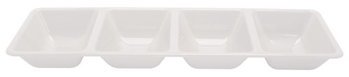 Rectangular Compartment Plastic Trays – White