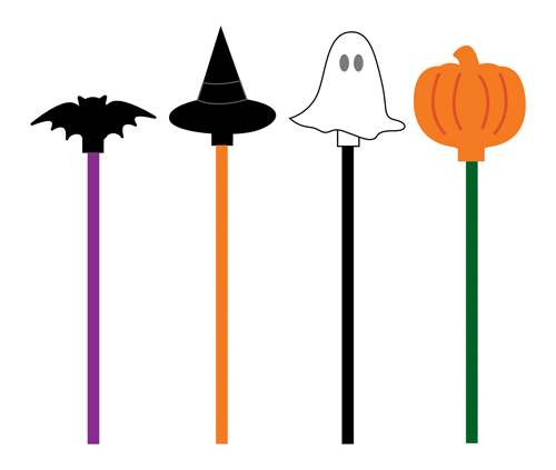 Halloween Assorted Beverage Stirrers