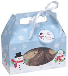 Snowman Cookie Boxes - Window