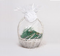 "Clear Cellophane Gift Basket Bags - 24"" x 25"""