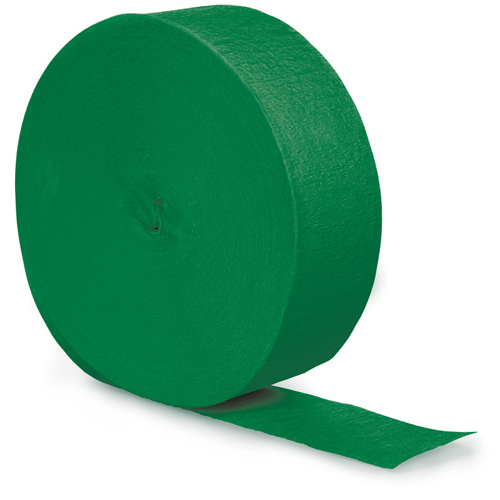 Emerald Green Party Streamers - 500 Feet