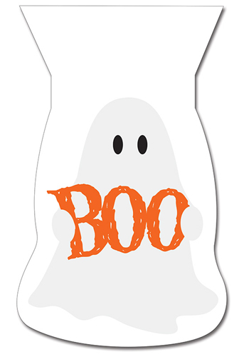 Ghost Shaped Halloween Cello Bags