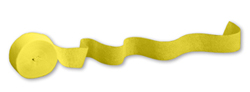 Mimosa Yellow Party Streamers - 81 Feet