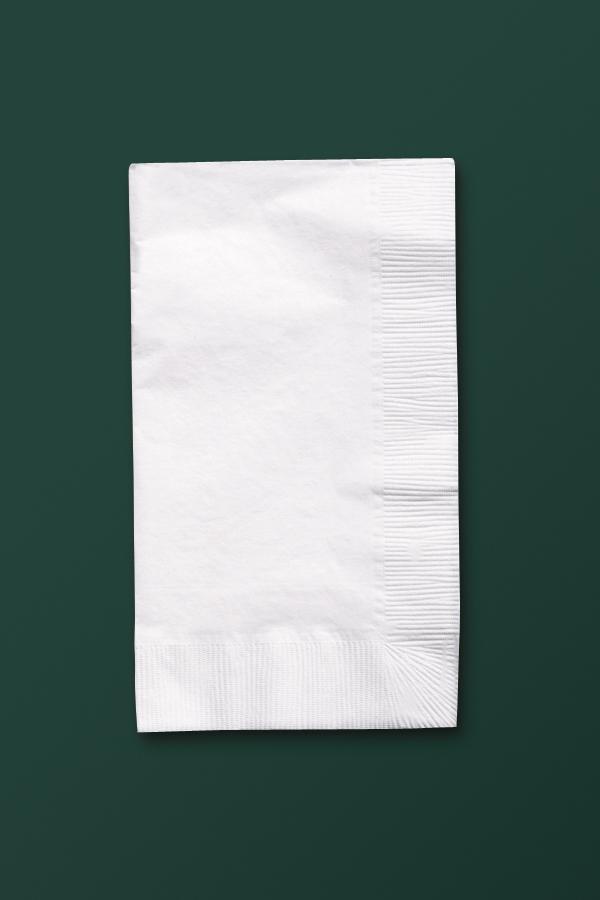 Recycled Paper Dinner Napkins -  White