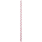 Pink & White Striped Paper Party Straws