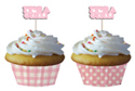 Baby Girl Baking Cups with Picks