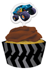 Monster Truck Cupcake Pick and Wrap Sets