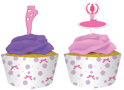 Ballet Birthday Cupcake Wrappers and Picks