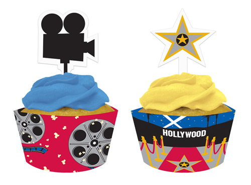 Hollywood Cupcake Wrappers and Picks